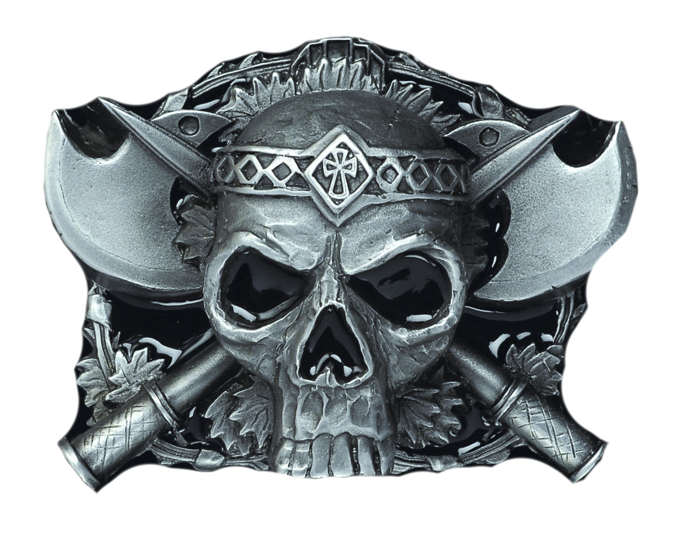 Skull - Axes Belt Buckle