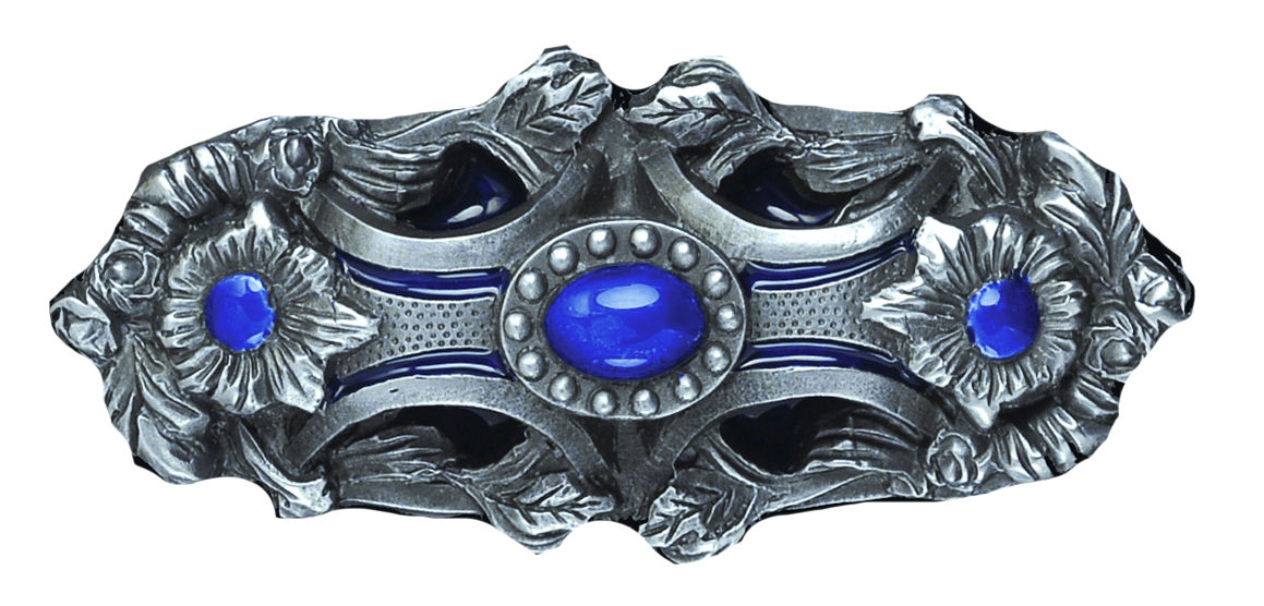 Pagan Flower blue Belt Buckle
