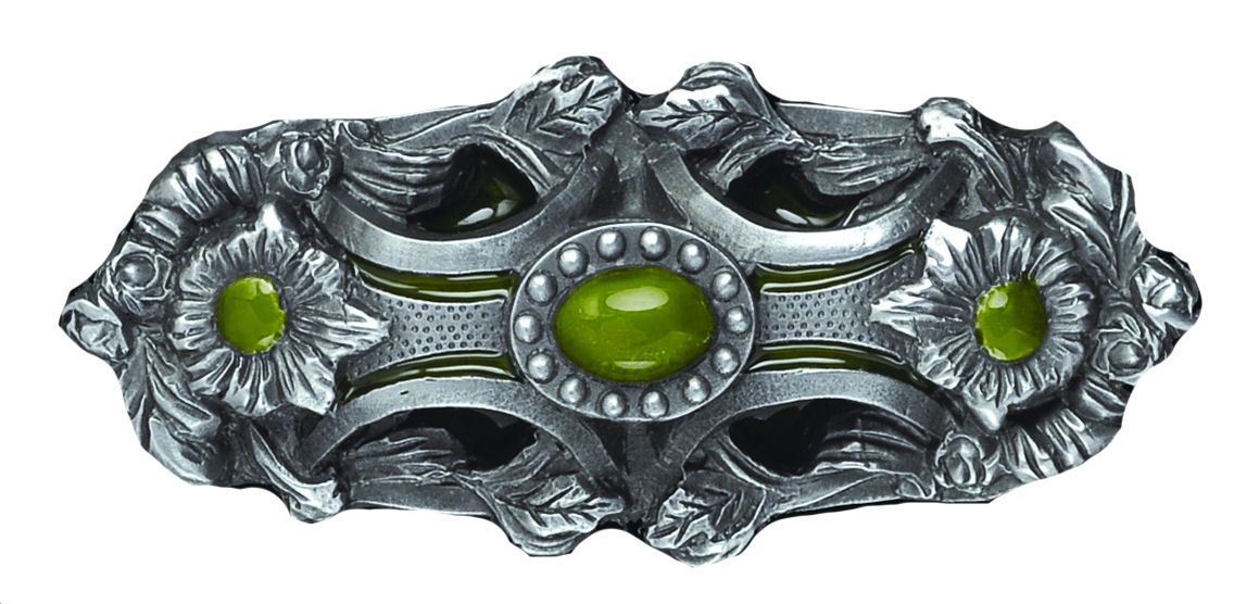 Pagan Flower green Belt Buckle