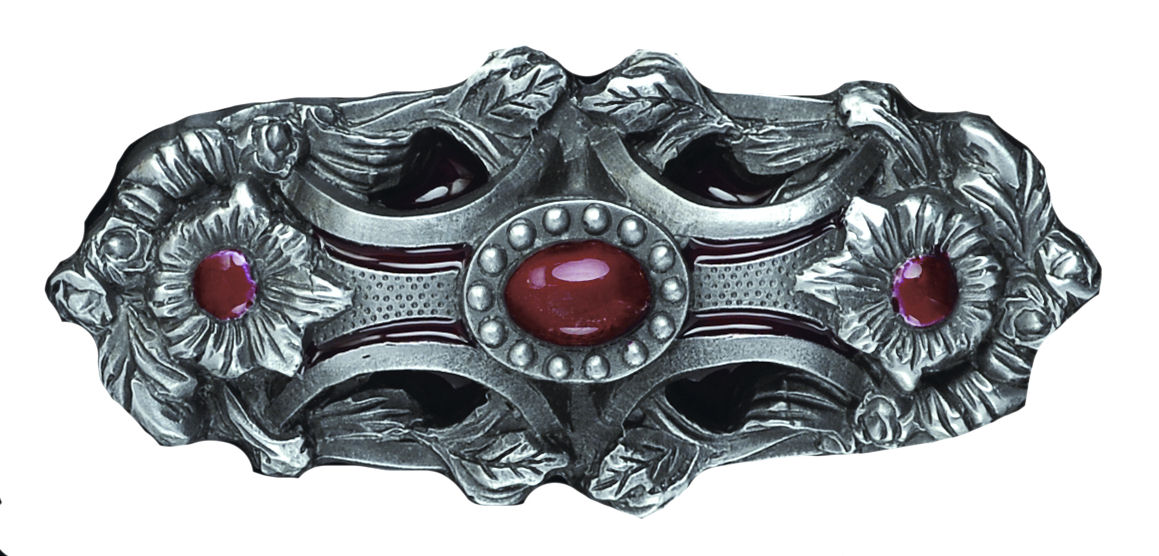 Pagan Flower red Belt Buckle