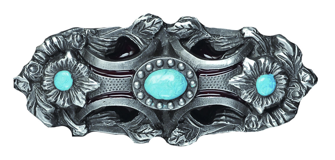 Pagan flower turquoise Belt Buckle