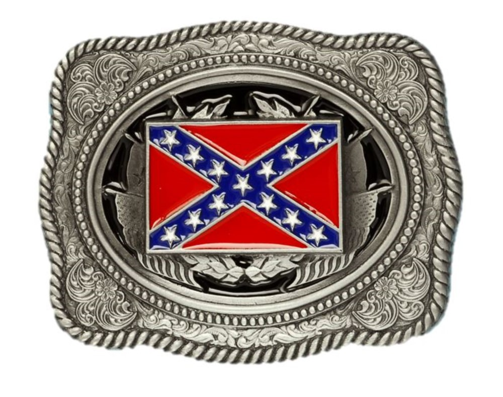 Stars and Bars Belt Buckle