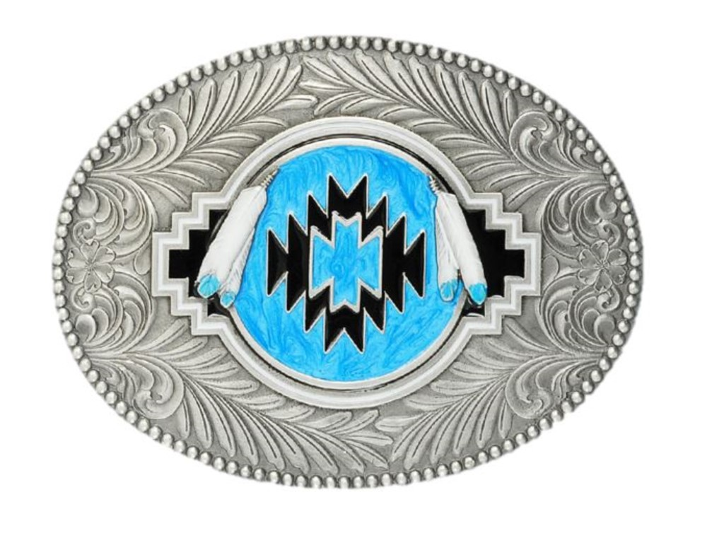 Indian Shield Turquoise Belt Buckle