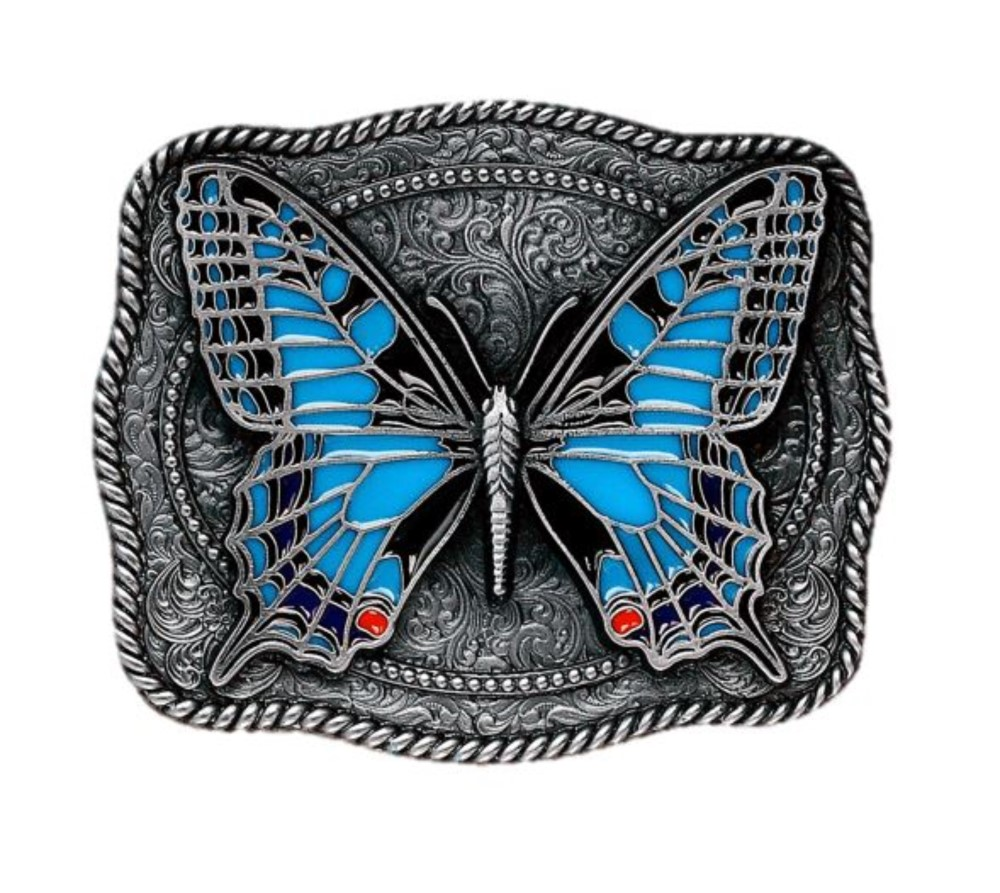 Butterfly Blue Belt Buckle