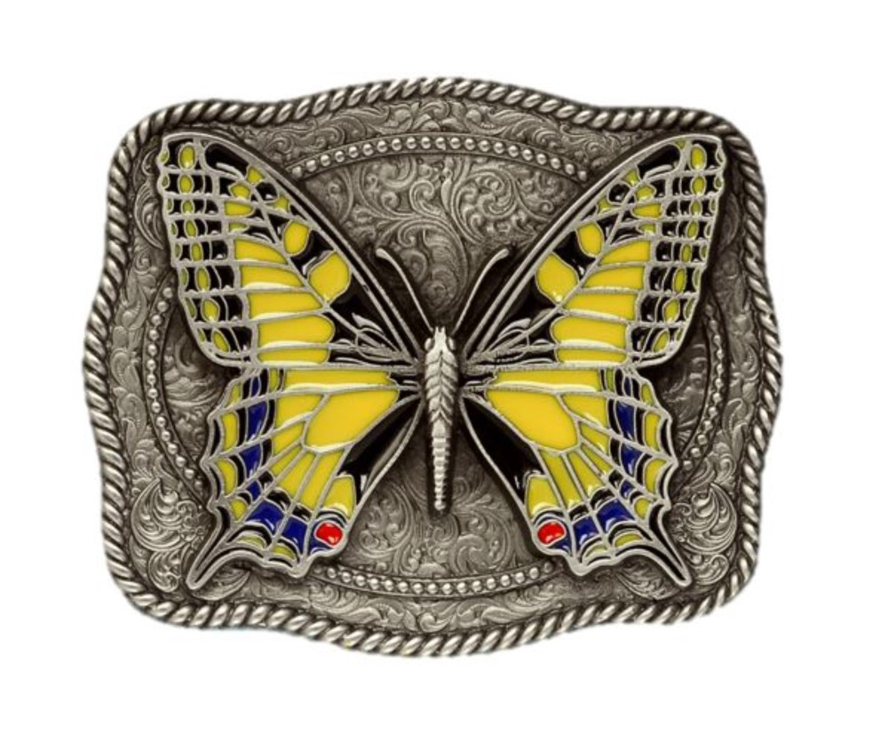 Butterfly Yellow Belt Buckle