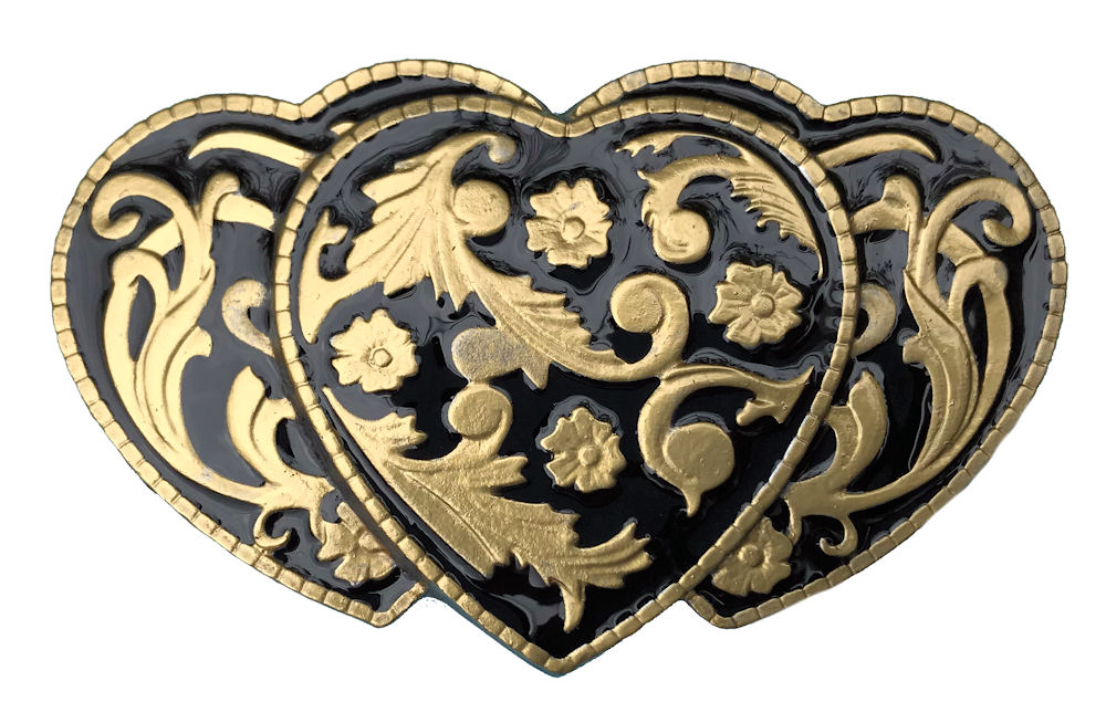 3 Hearts Black & Gold Edition Belt Buckle