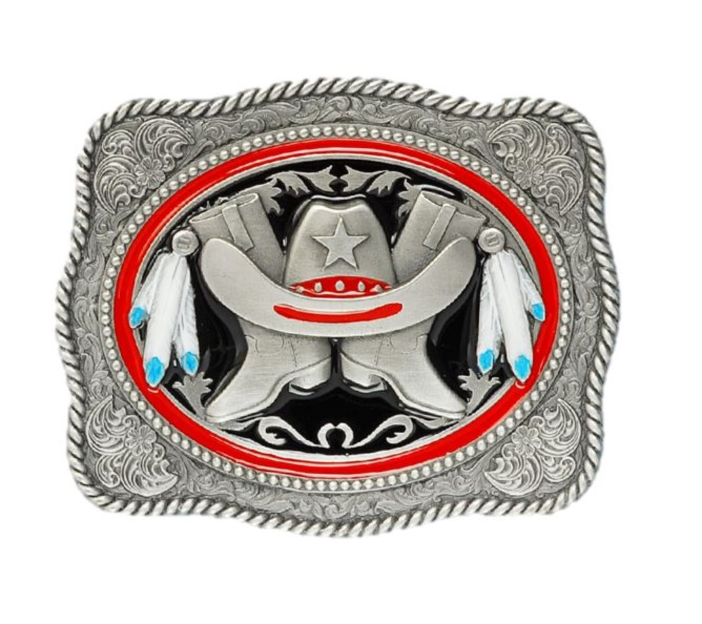 Hat & Boots Belt Buckle