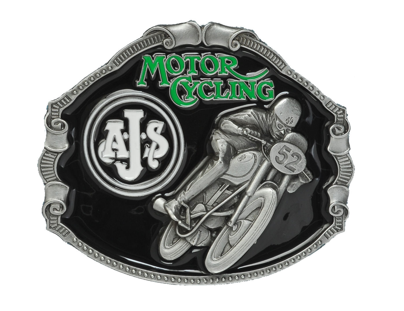 A.J.S. Motorcycle Belt Buckle