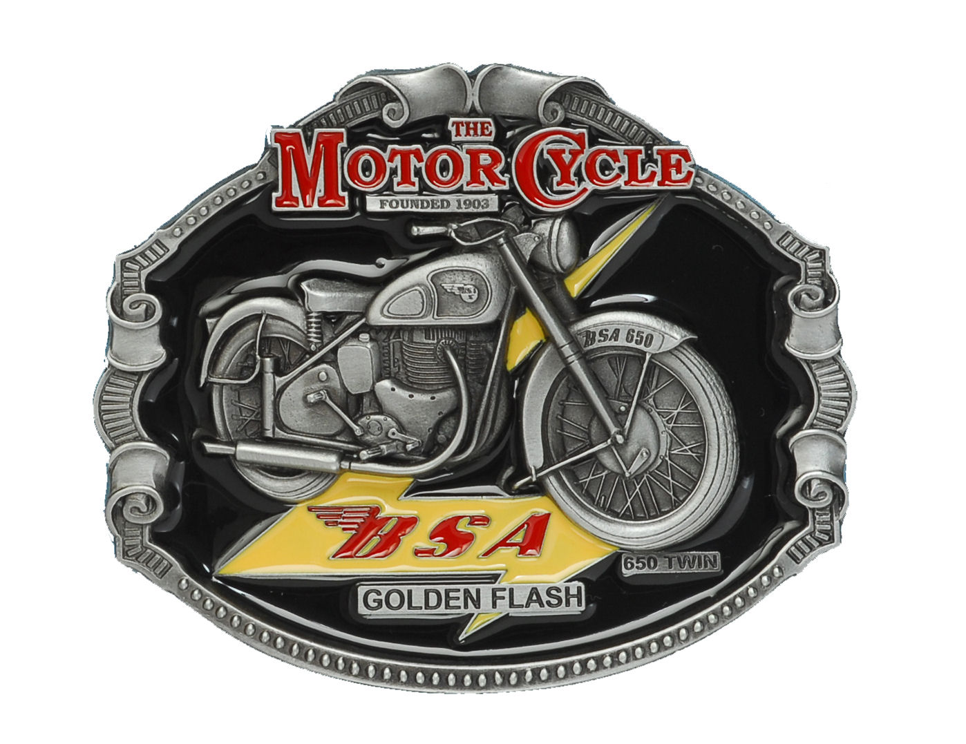 B.S.A. Classic Motorcycle Belt Buckle