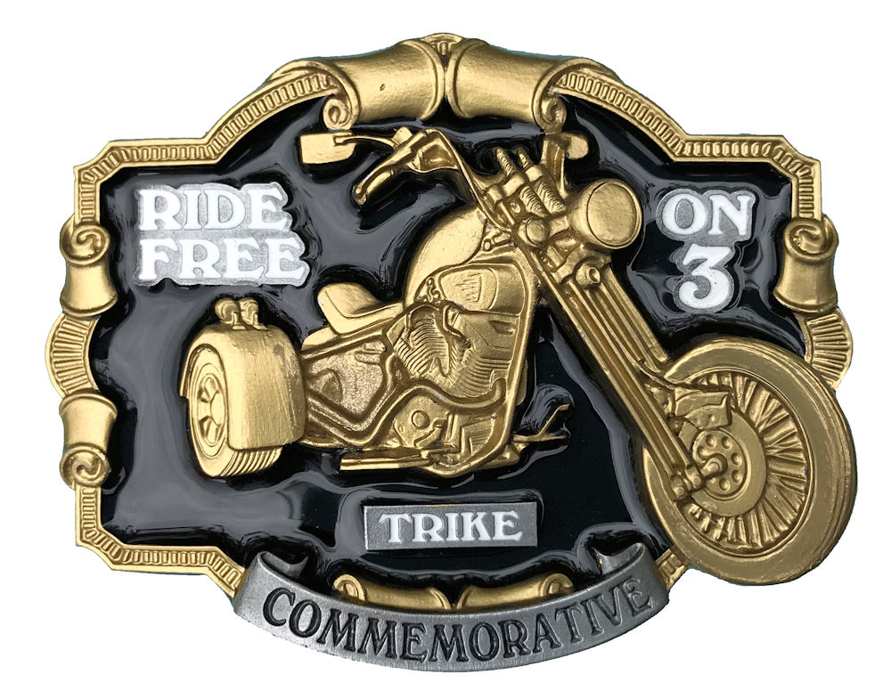 Ride Free On 3 Black & Gold