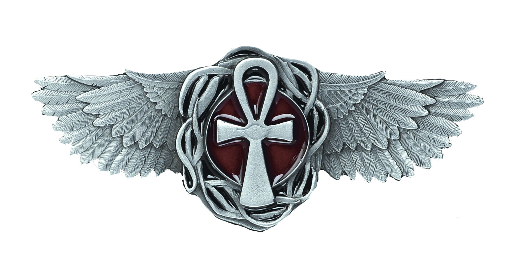 Osirian Cross - Wings Belt Buckle
