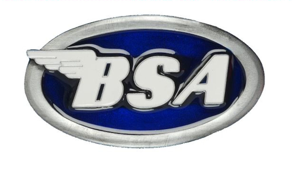 BSA Logo Oval (Blue) Belt Buckle