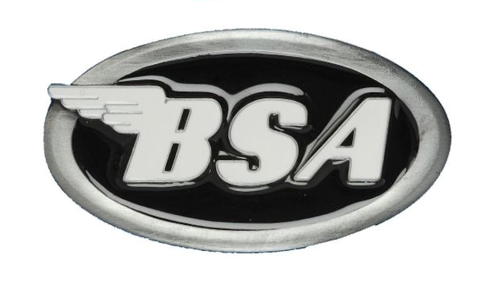 BSA Logo Oval (Black) Belt Buckle