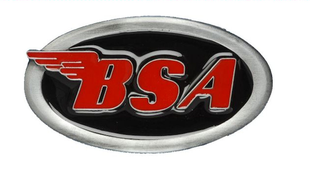 BSA Oval Logo Black & Red Belt Buckle