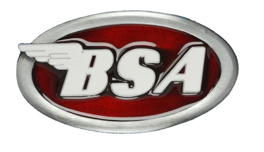 BSA OVAL LOGO / DARK RED