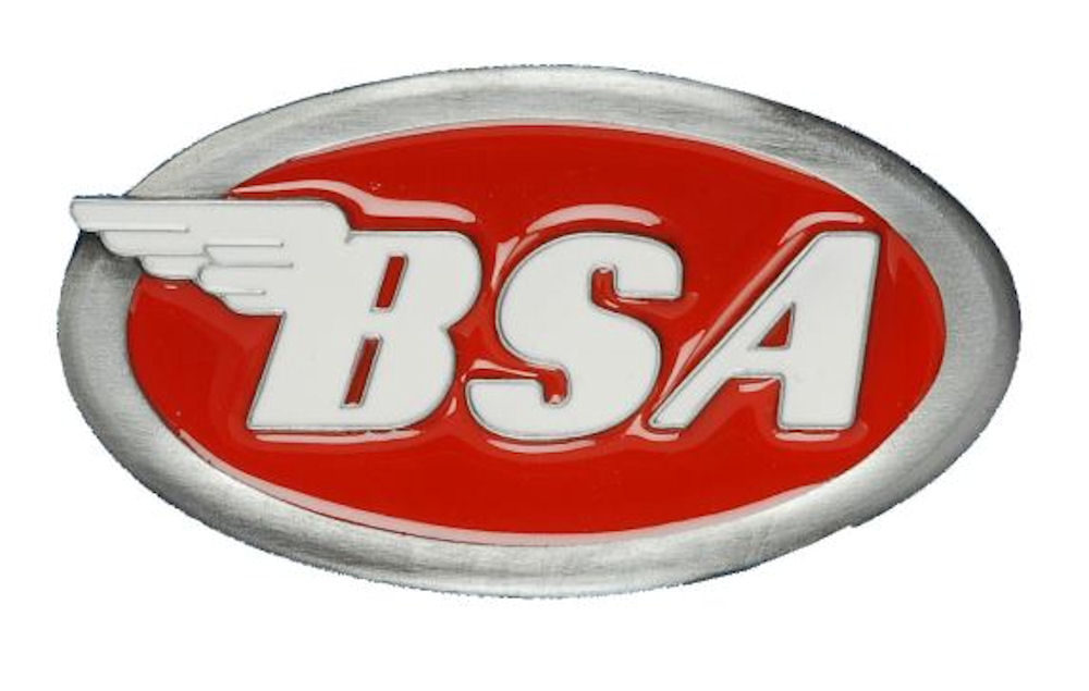 BSA OVAL LOGO / RED