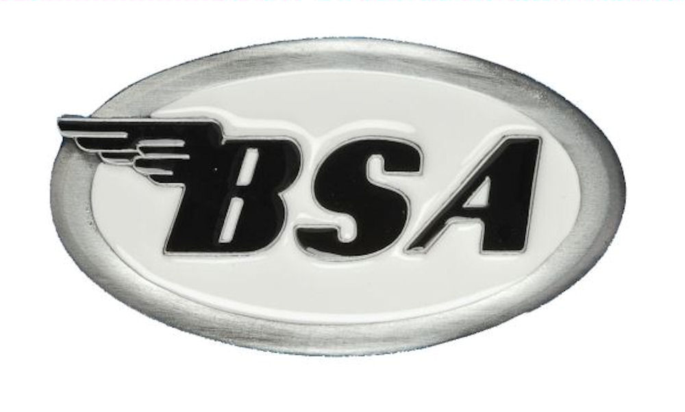 BSA Logo Oval (White) Belt Buckle