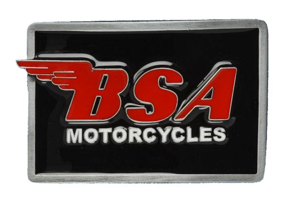 BSA Logo Oblong (Black/Red) Belt Buckle