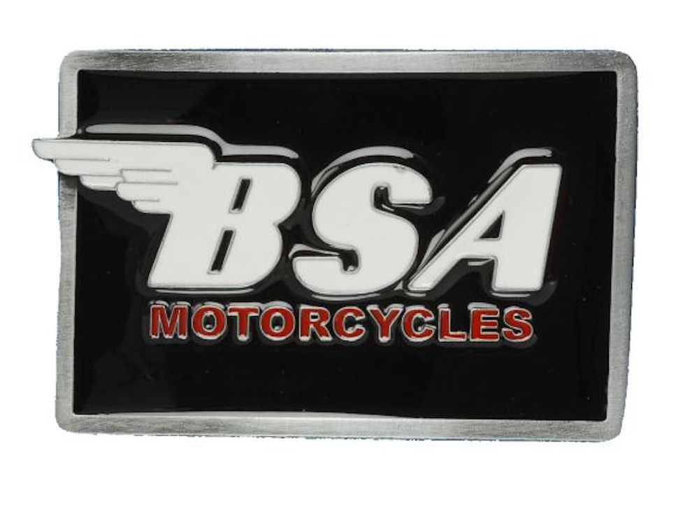 BSA Logo (Oblong) Black - White Belt Buckle
