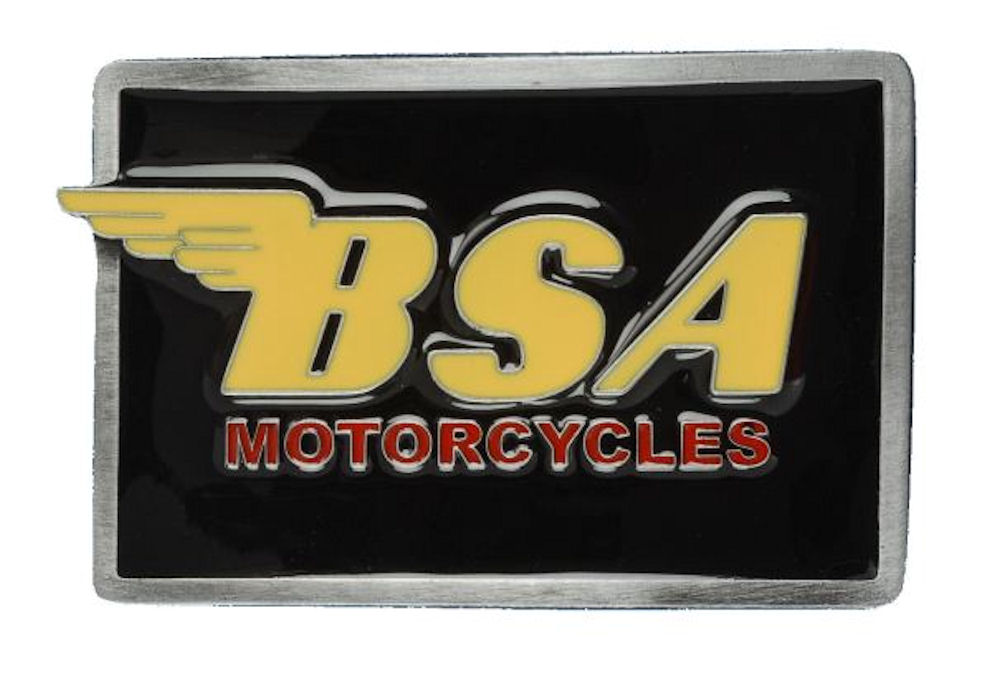 BSA Logo Oblong (Black & Yellow) Belt buckle