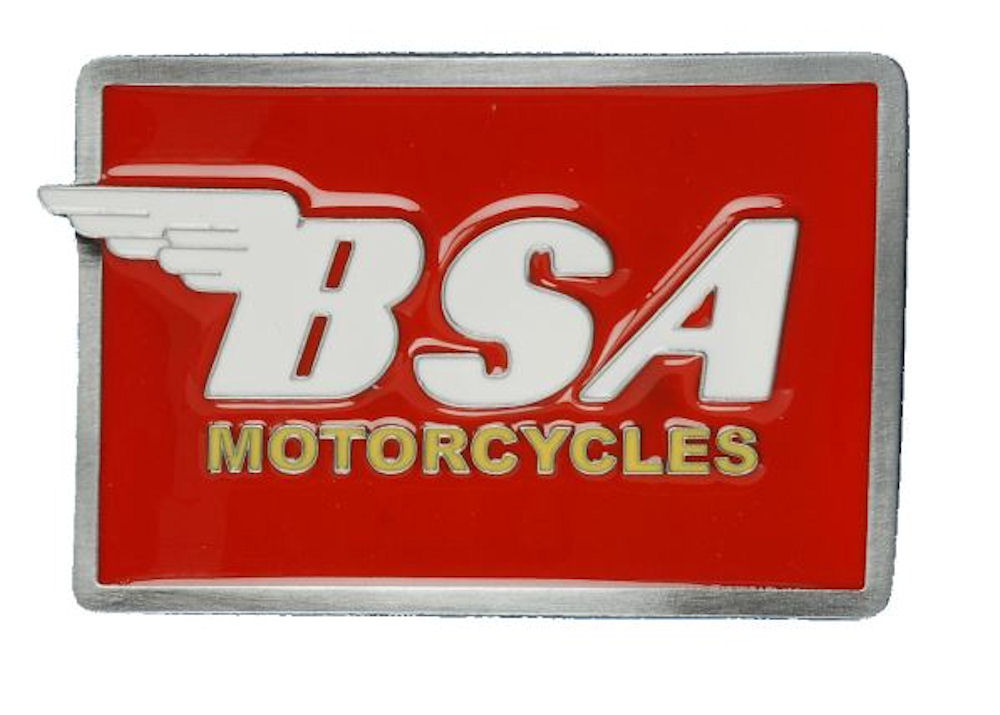 BSA Logo Oblong (Red & White) Belt buckle