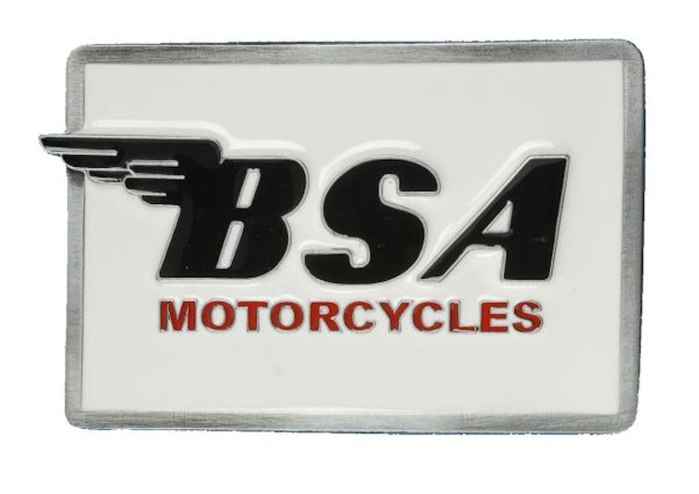 BSA Logo Oblong (White - Black) Belt buckle