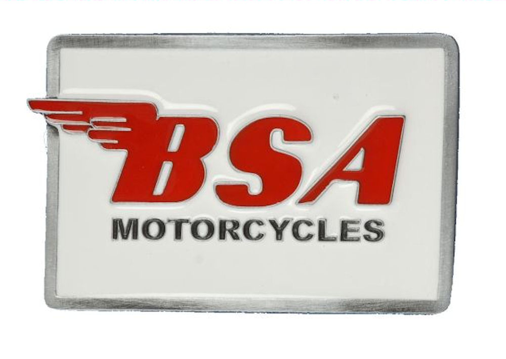 BSA Logo Oblong (White & Red) Belt buckle