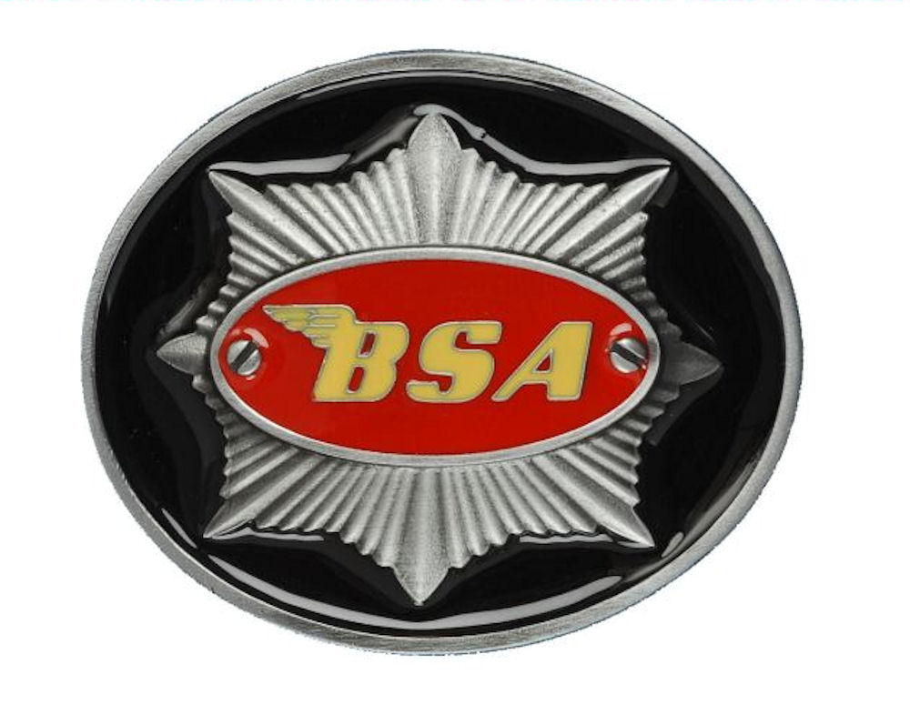 BSA Star (Black/Red) Belt Buckle