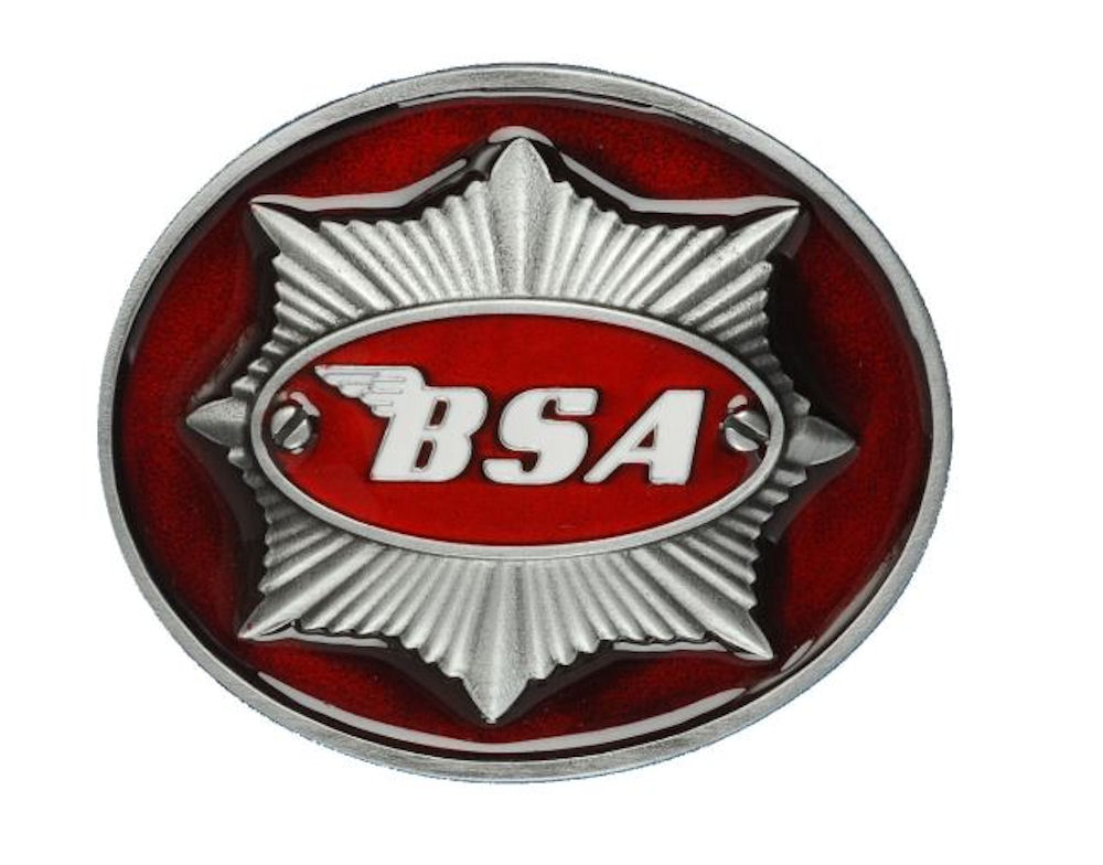 BSA Star (Dark Red) Belt Buckle
