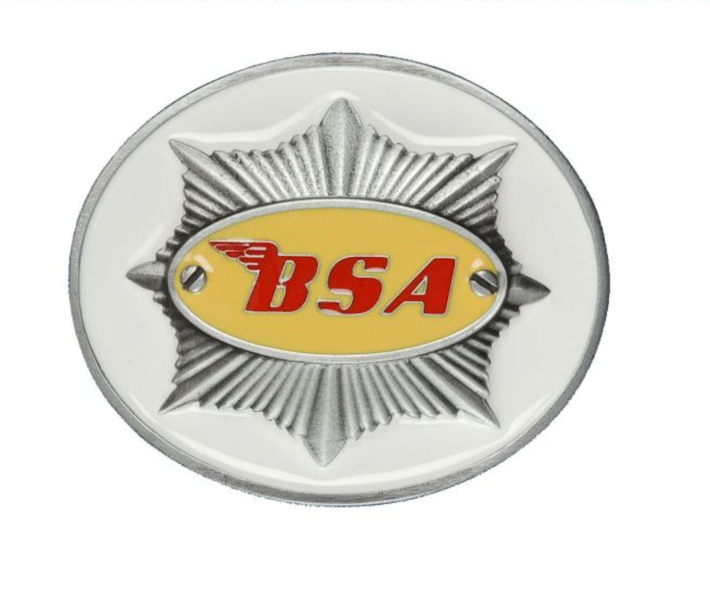 BSA Star (White) Belt Buckle