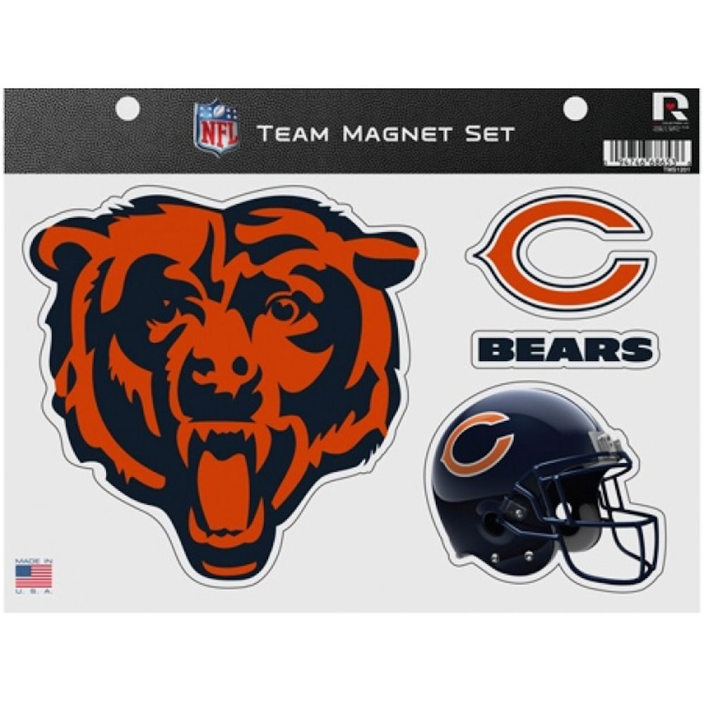 Chicago Bears NFL Team Magnet Set