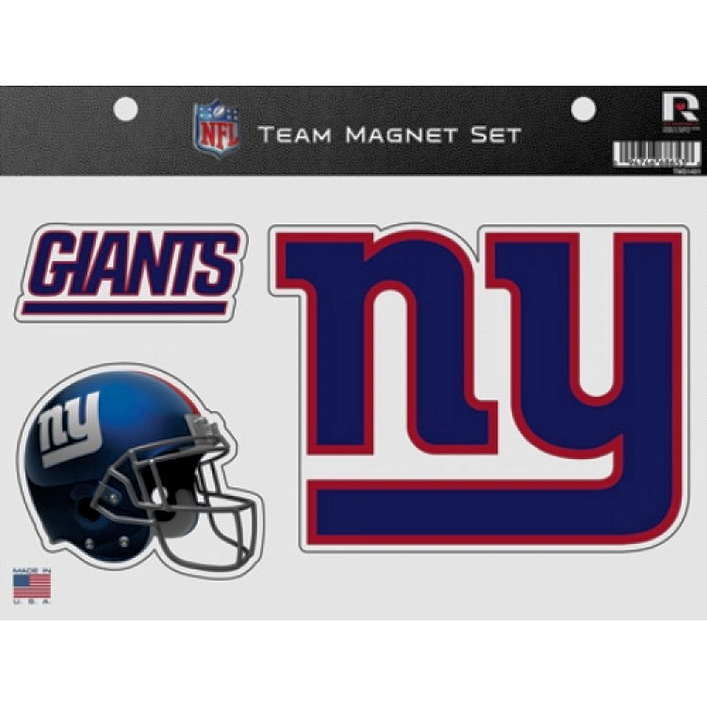 New York Giants Fridge Magnet Set
