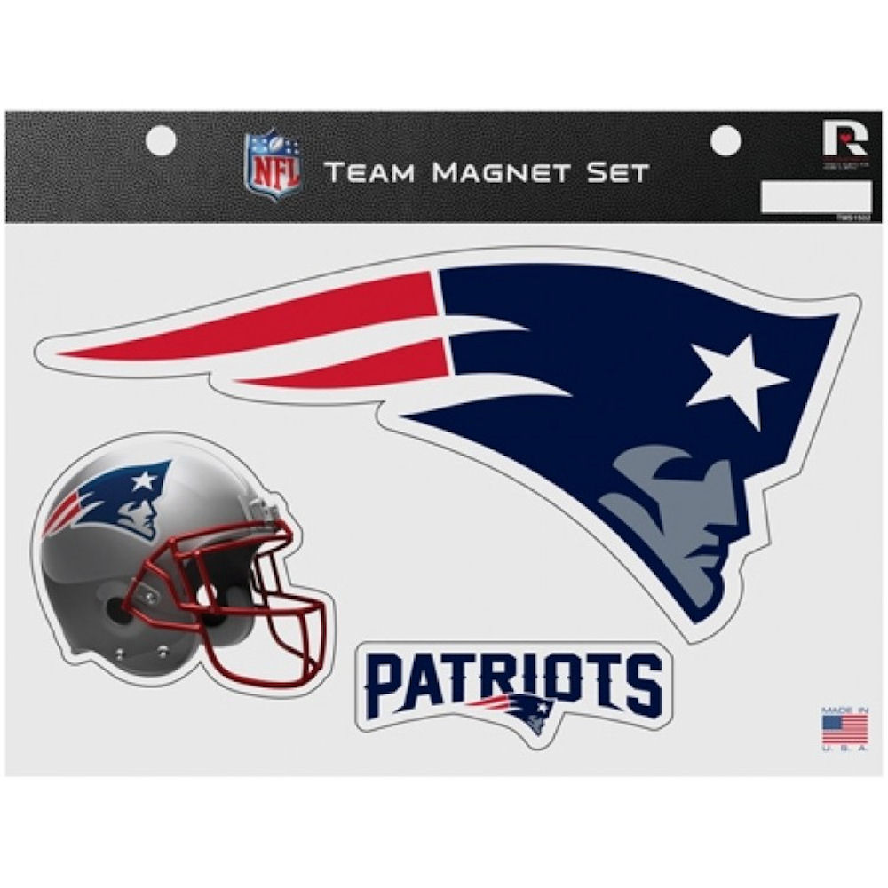 New England Patriots NFL Team Magnet Set