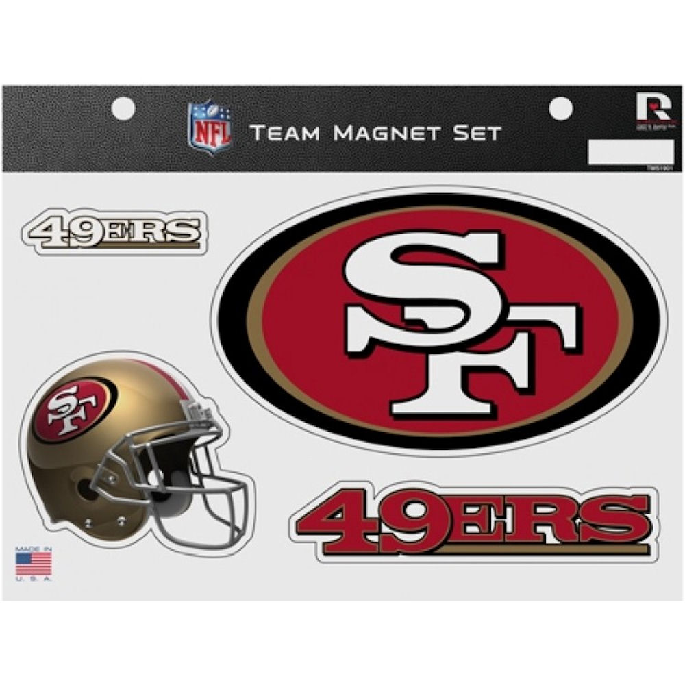 San Francisco 49ers NFL Team Magnet Set