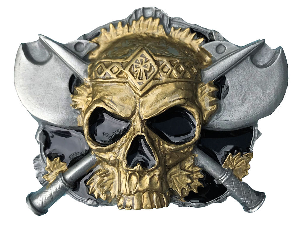 Skull & Axes Black & Gold Range