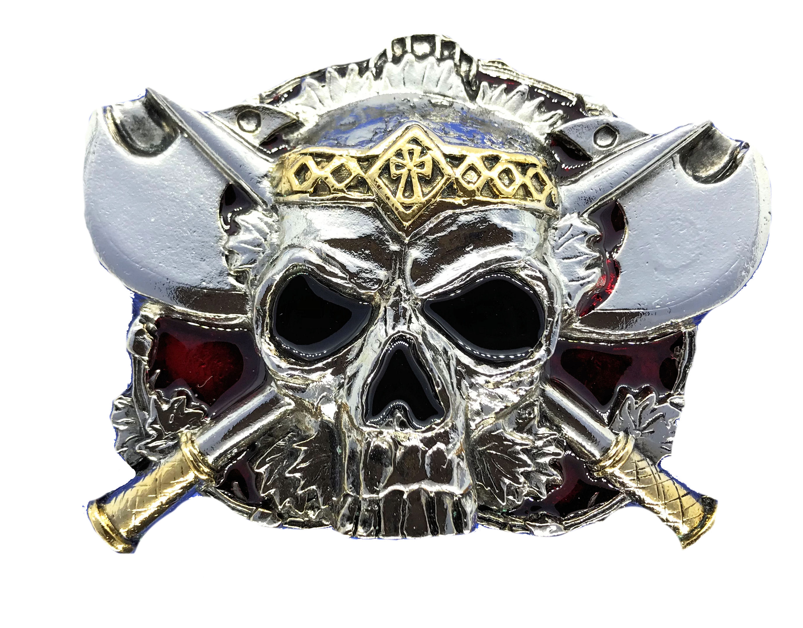 skull & axes Gold & full Colour