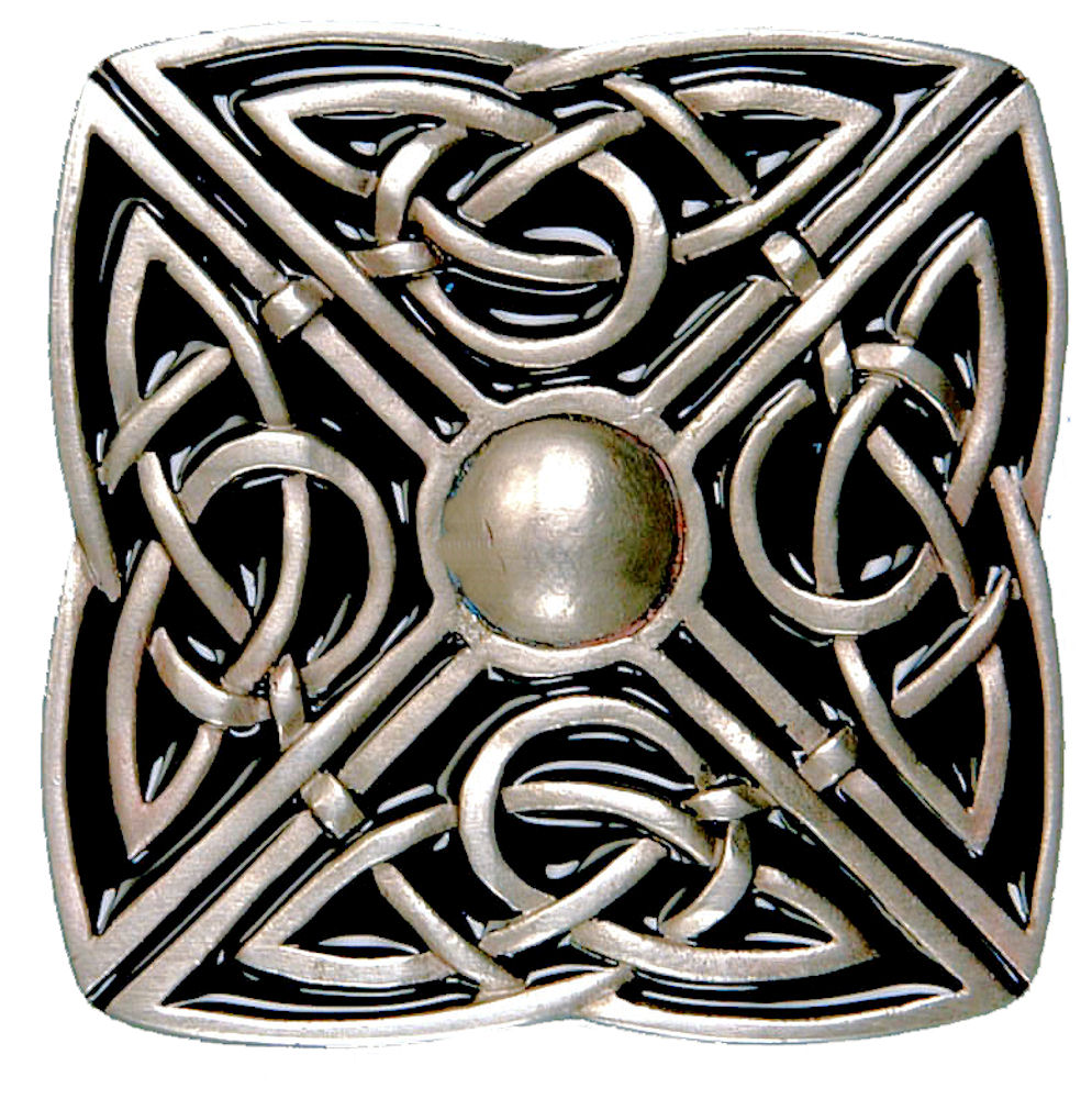 Celtic Square Buckle - Black