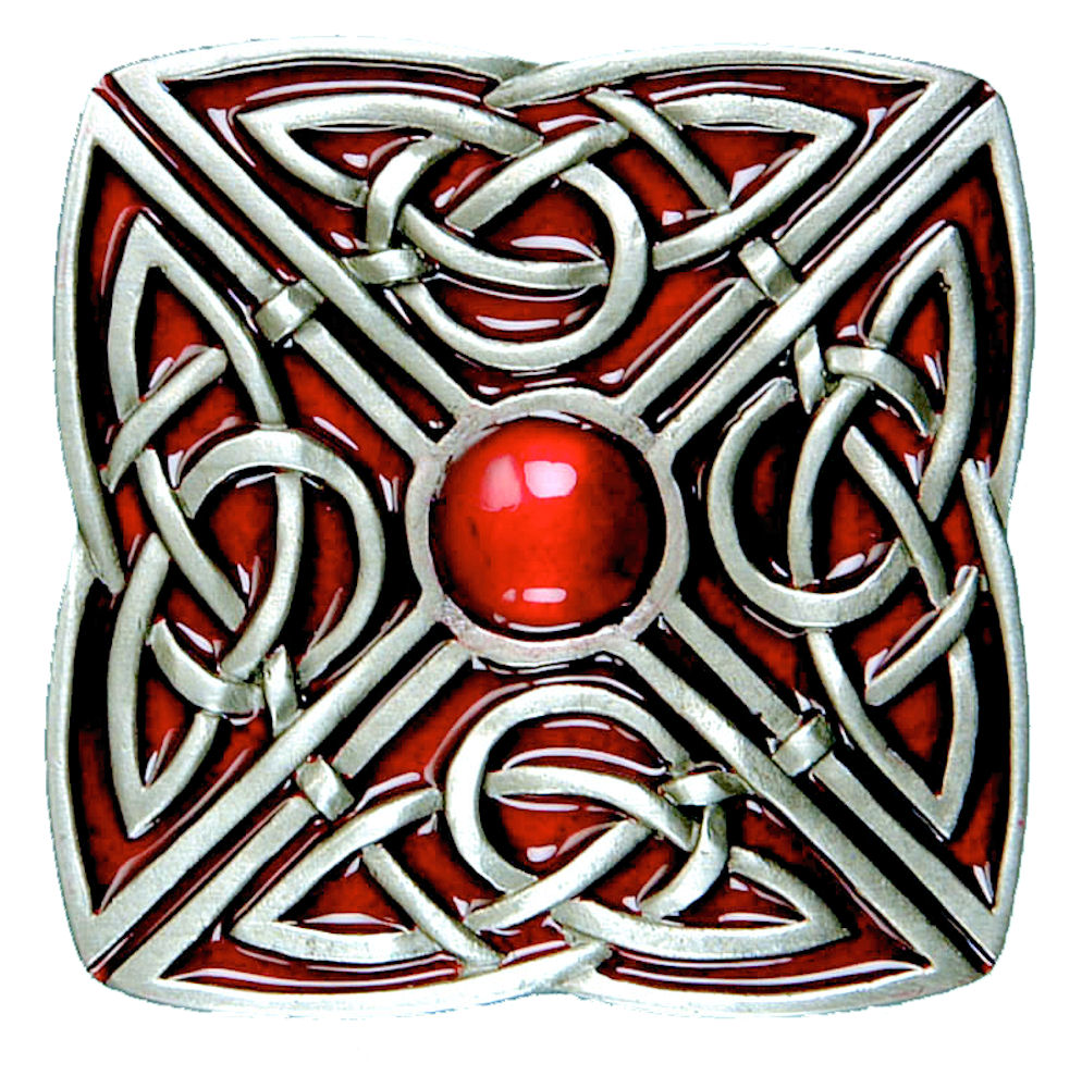 Celtic Square Buckle - Red