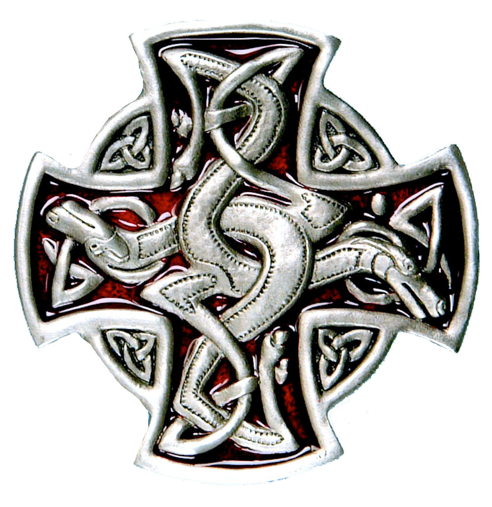 English Cross Buckle - Red