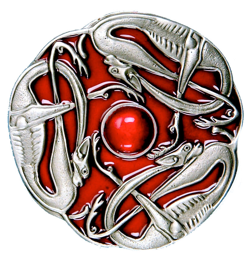 Celtic Dog Buckle - Red