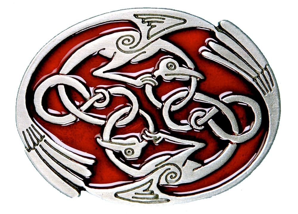 Entwined Bird Buckle - Red