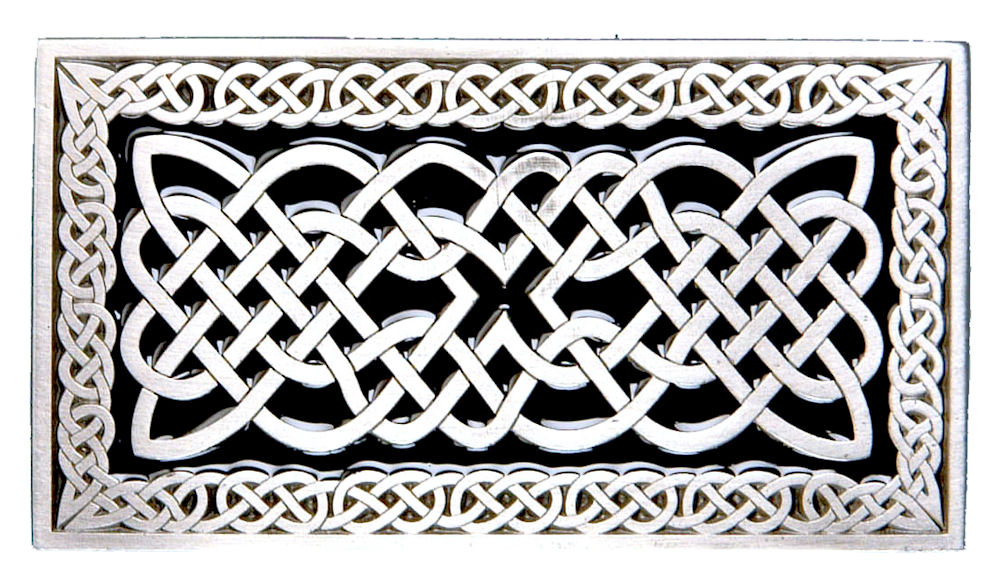 Celtic Rectangle Buckle - Black