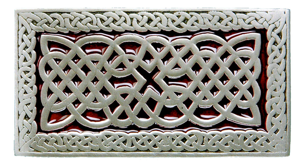 Celtic Rectangle Buckle - Red