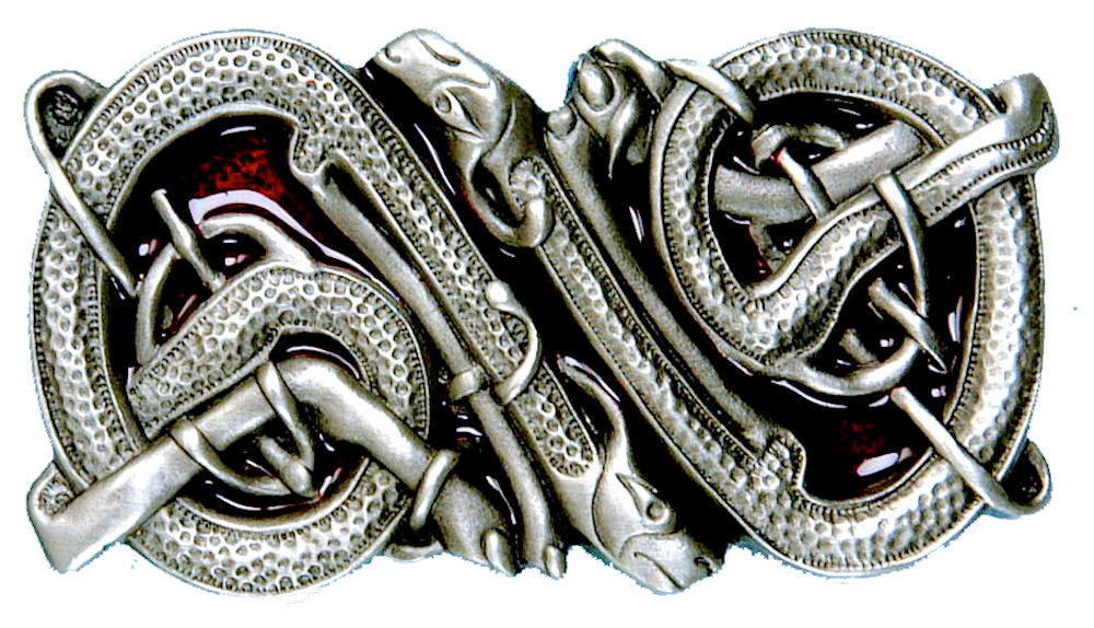 Celtic Dogs Buckle