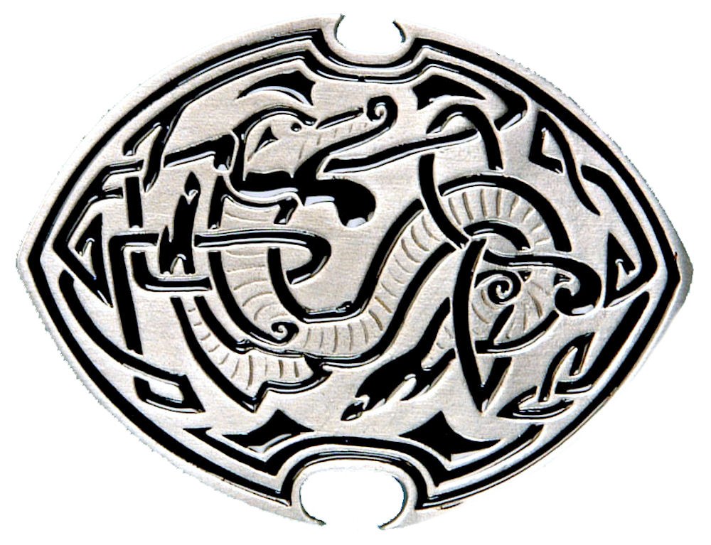 Celtic Dragon - black Belt Buckle