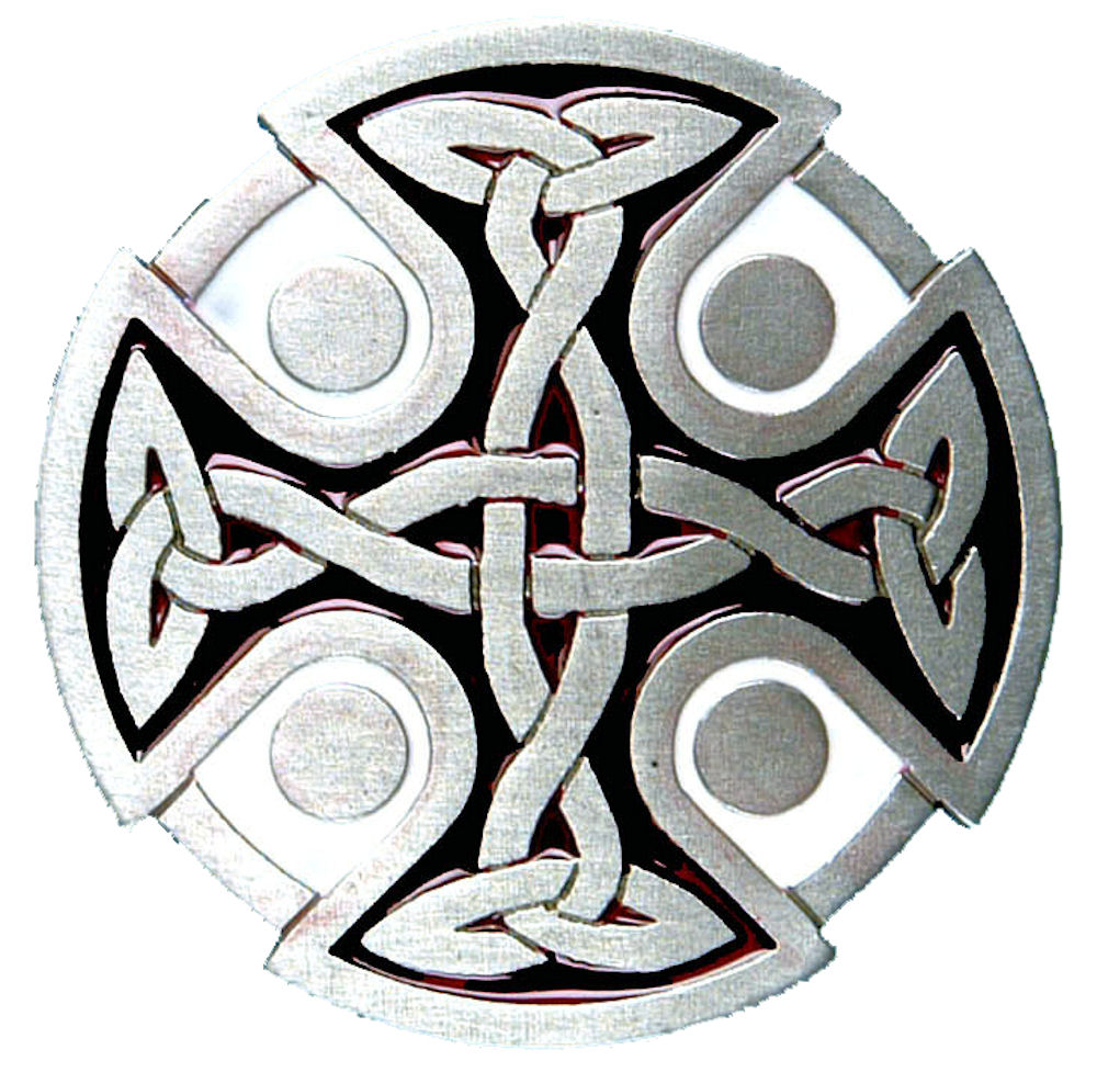 Celtic Cross Buckle - Black