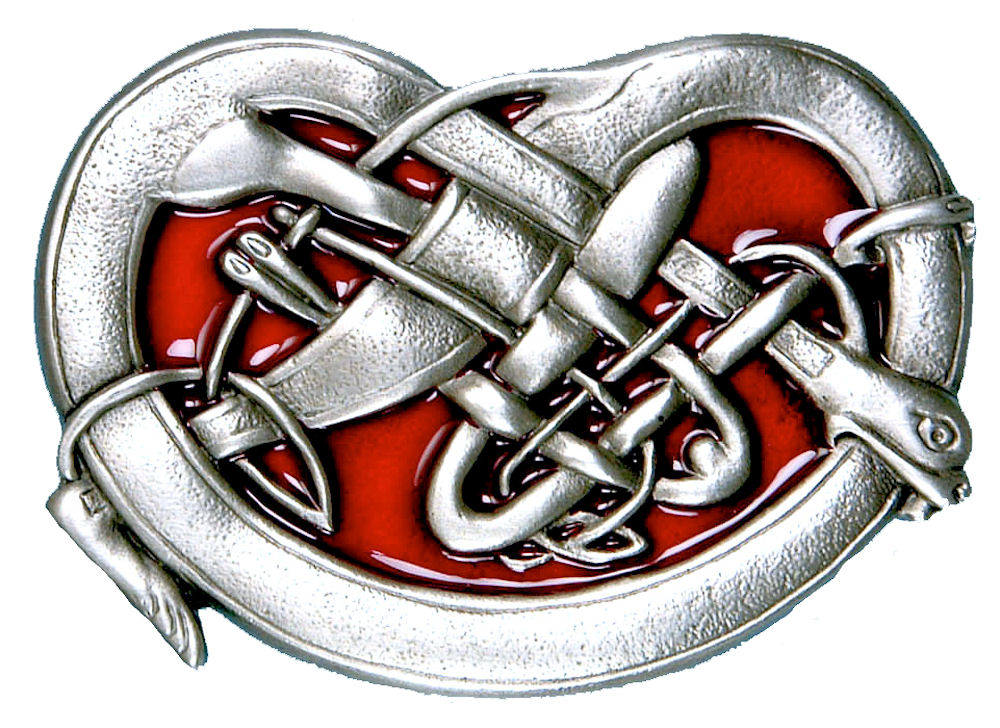 Celtic Beast Buckle - Red