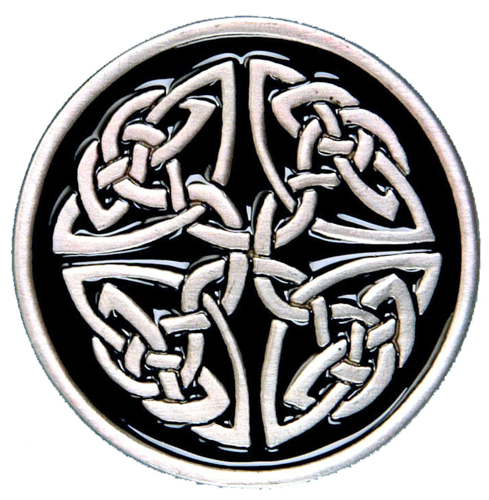 Celtic Circle Buckle - Black