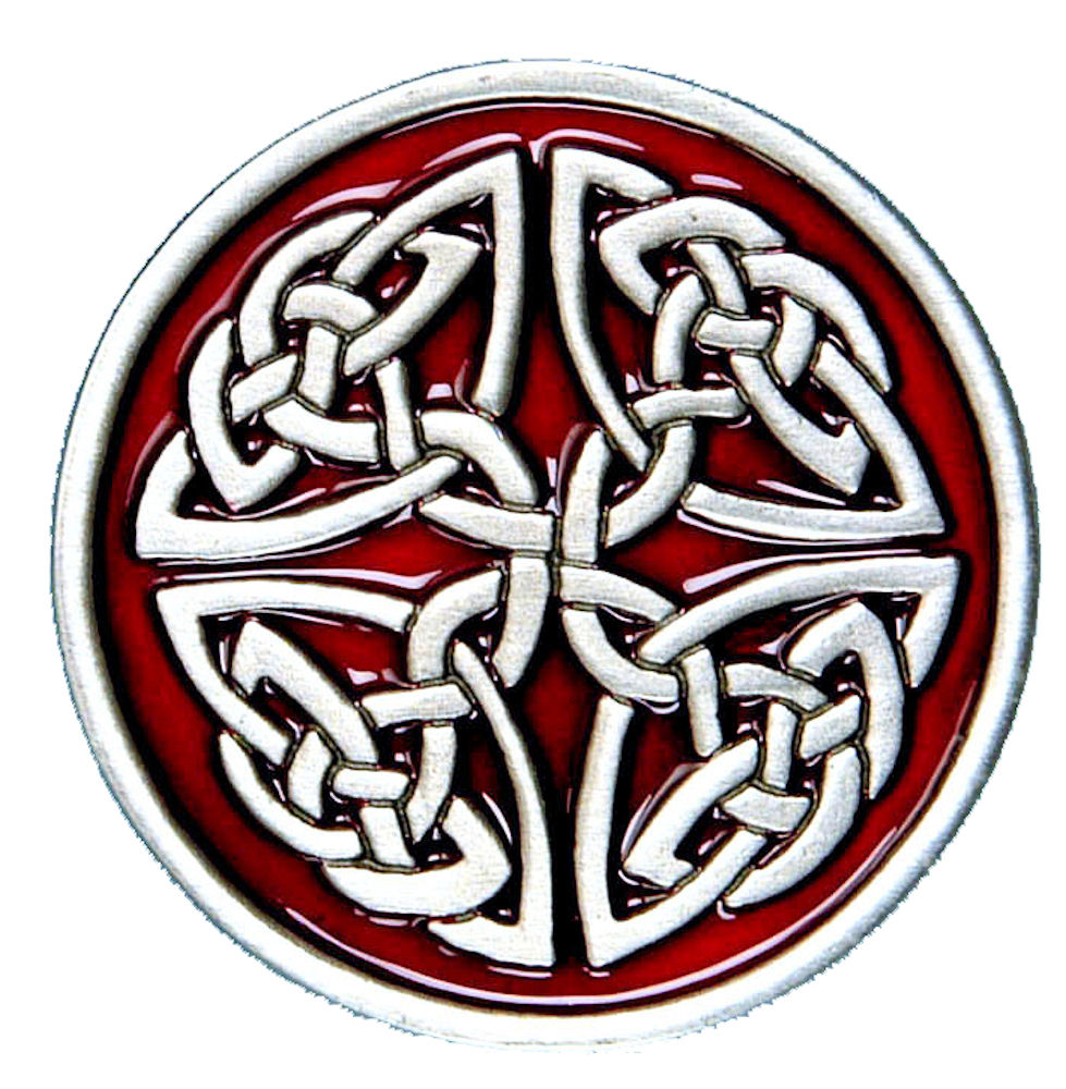 Celtic Circle Buckle - Red