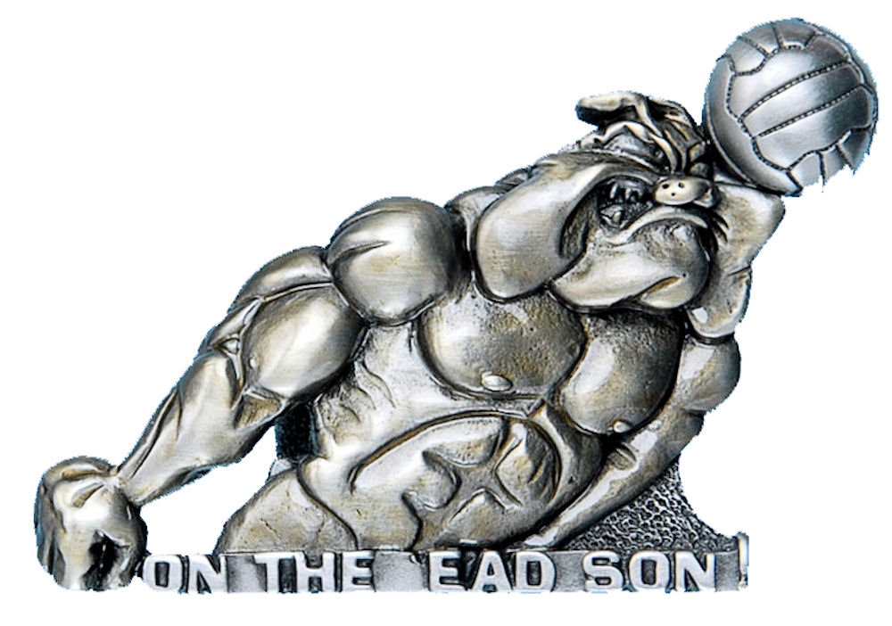 On the ead Son Bulldog Belt Buckle